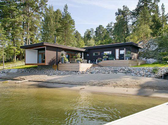 Fritidshus på Ljusterö i Österåkers kommun.
